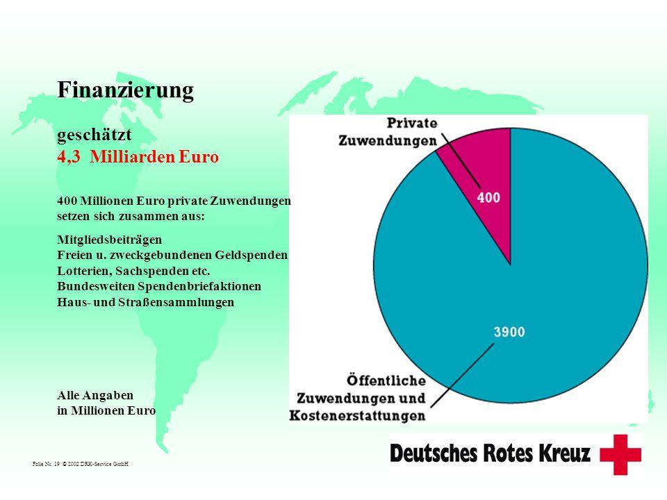 Finanzierung geschätzt 4,3 Milliarden Euro