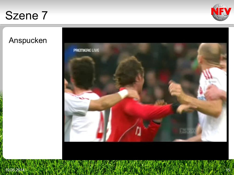 Szene 7 Anspucken Video r12_001 Videoszenen: DFB-DVD vom 9.1.2010