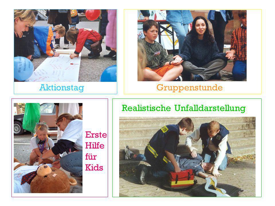Aktionstag Gruppenstunde Realistische Unfalldarstellung Erste Hilfe für Kids