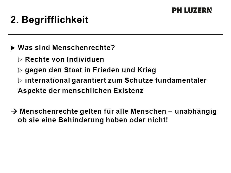 2. Begrifflichkeit Was sind Menschenrechte Rechte von Individuen