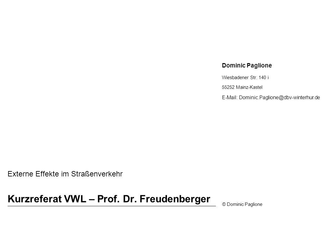 Kurzreferat VWL – Prof. Dr. Freudenberger
