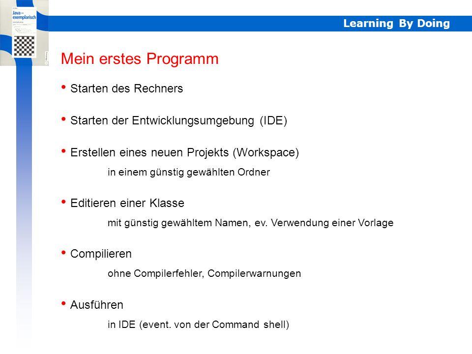 Starten der Entwicklungsumgebung (IDE)