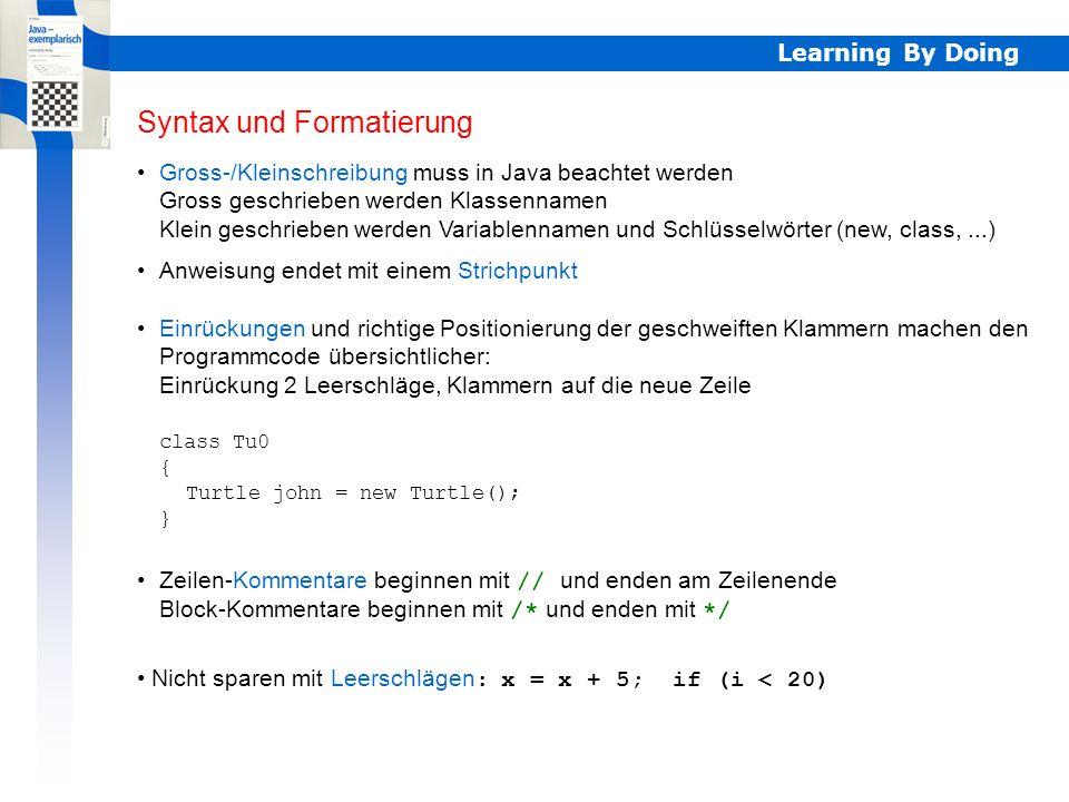 Syntax und Formatierung