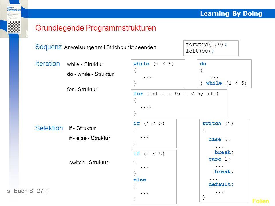 Grundlegende Programmstrukturen
