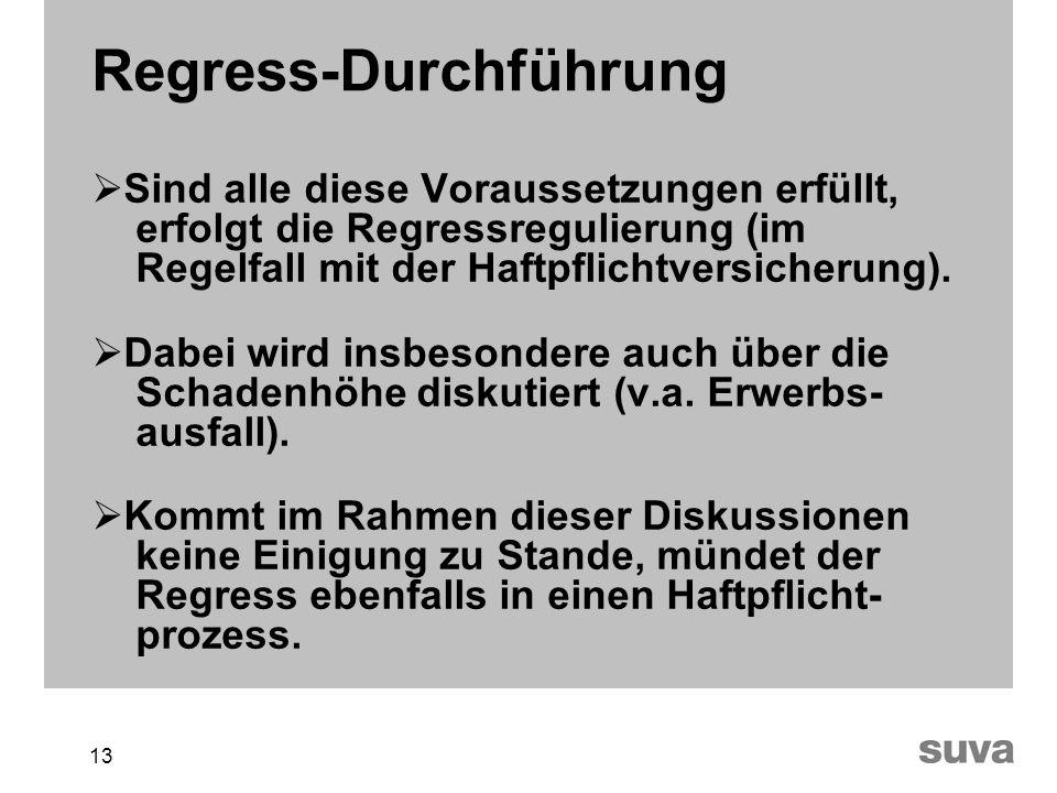 Regress-Durchführung