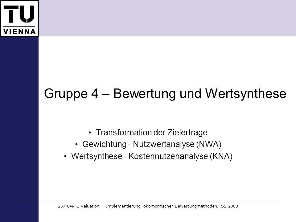 Gruppe 4 – Bewertung und Wertsynthese