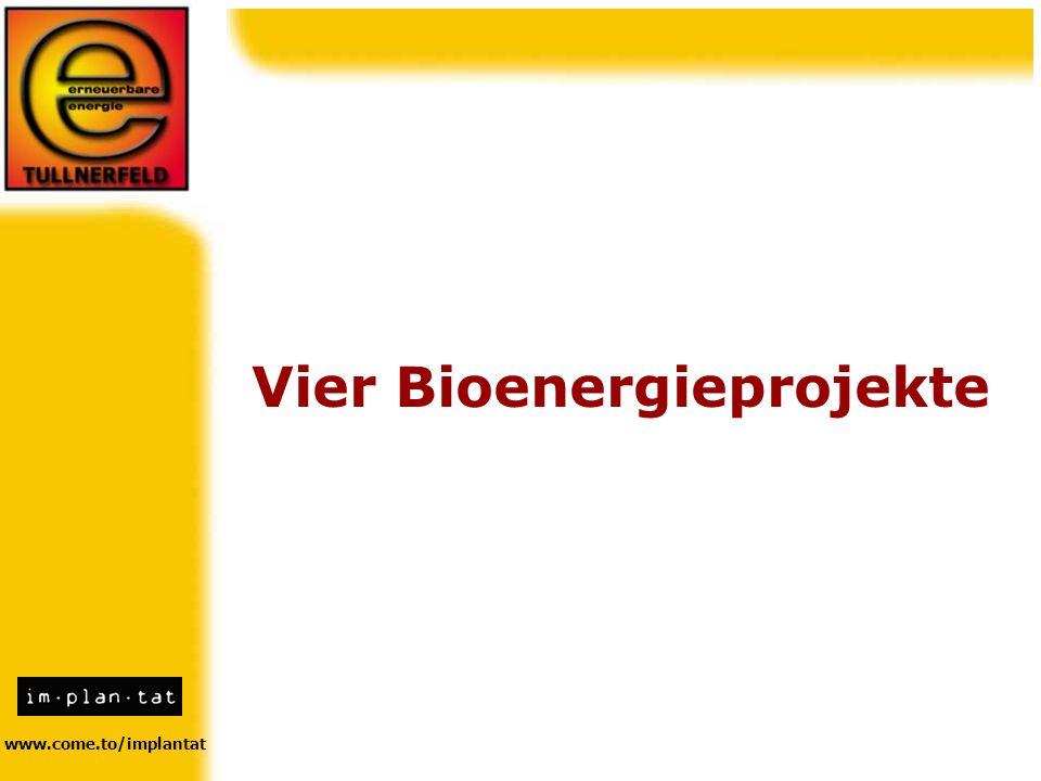 Vier Bioenergieprojekte