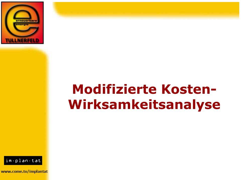 Modifizierte Kosten- Wirksamkeitsanalyse