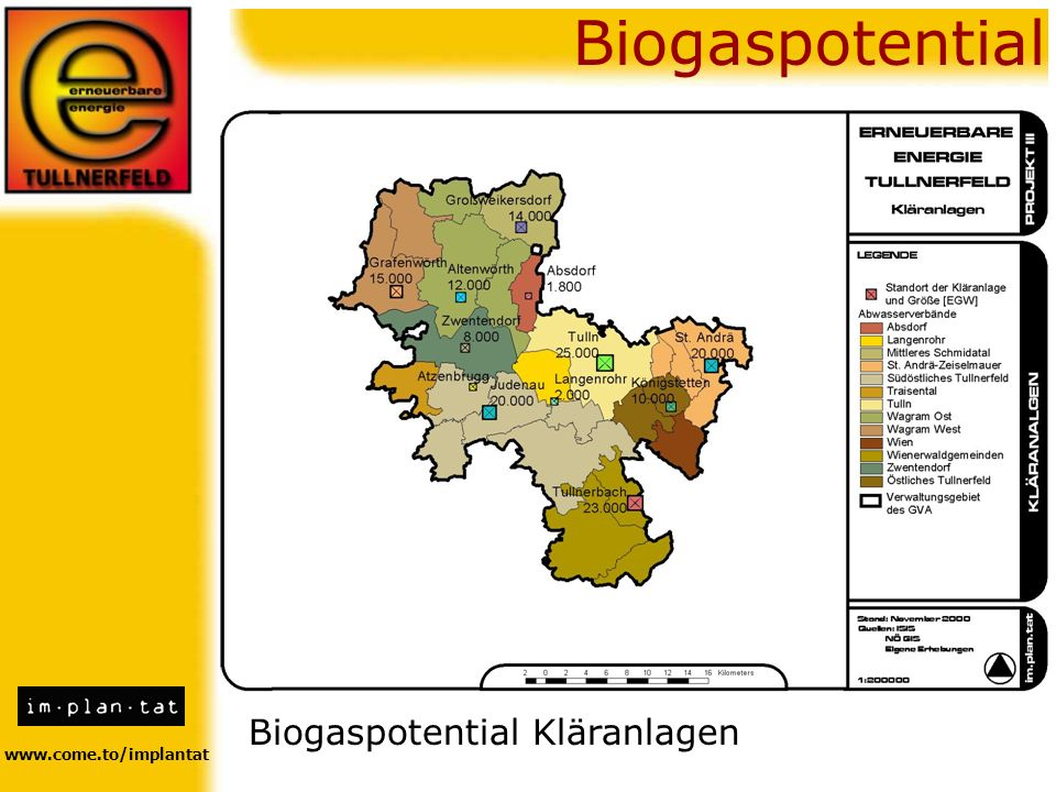 Biogaspotential Biogaspotential Kläranlagen www.come.to/implantat