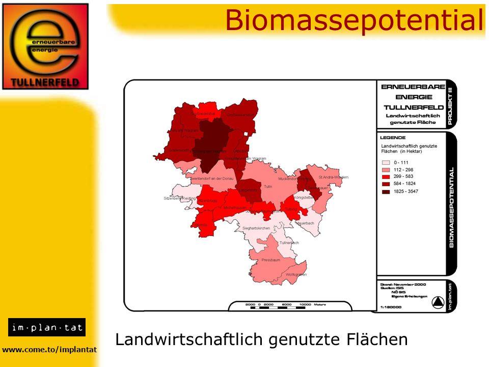 Biomassepotential Landwirtschaftlich genutzte Flächen