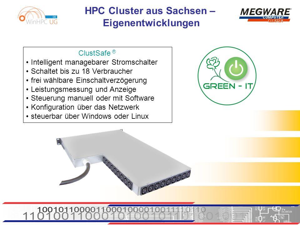 ClustSafe ® Intelligent managebarer Stromschalter. Schaltet bis zu 18 Verbraucher. frei wählbare Einschaltverzögerung.