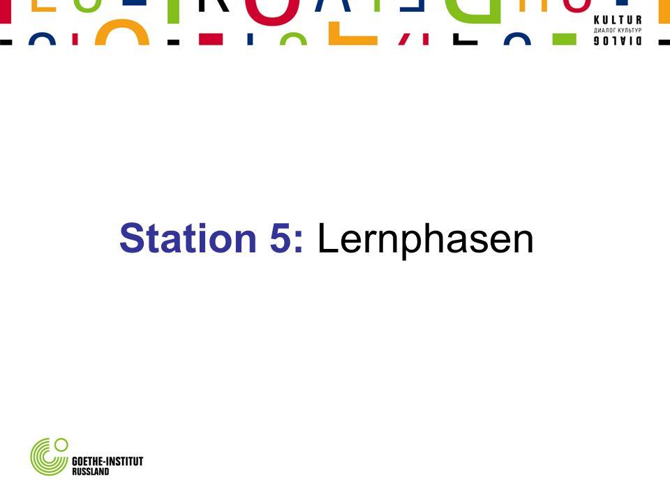 Station 5: Lernphasen