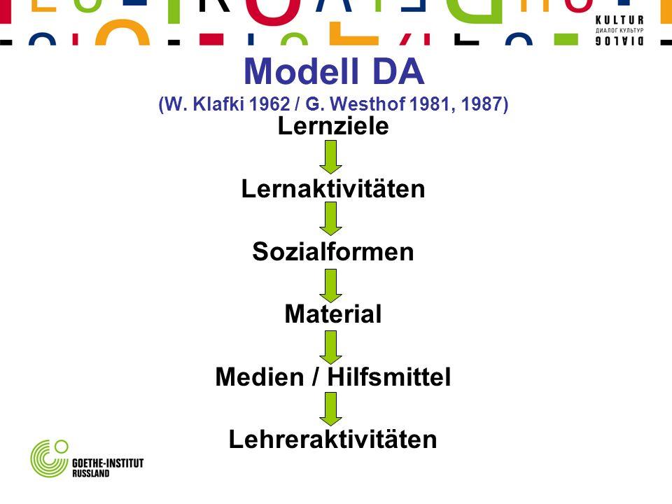 Modell DA (W. Klafki 1962 / G. Westhof 1981, 1987)