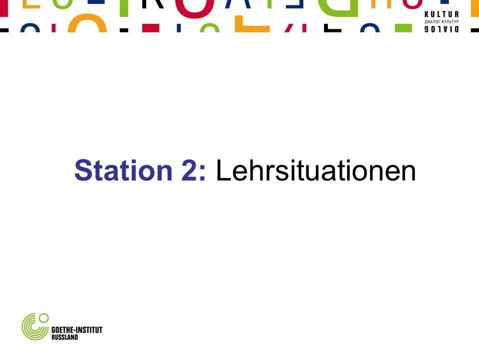 Station 2: Lehrsituationen