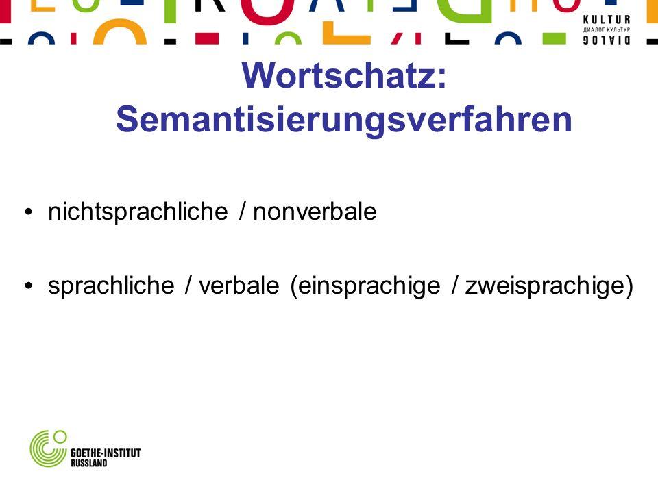 Wortschatz: Semantisierungsverfahren