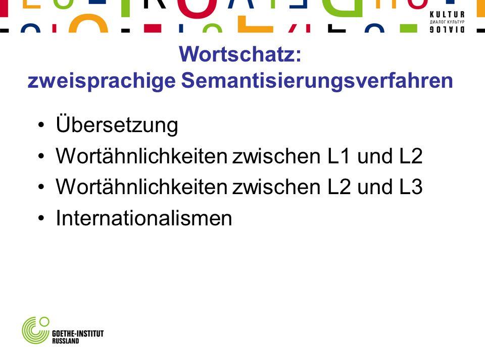 Wortschatz: zweisprachige Semantisierungsverfahren