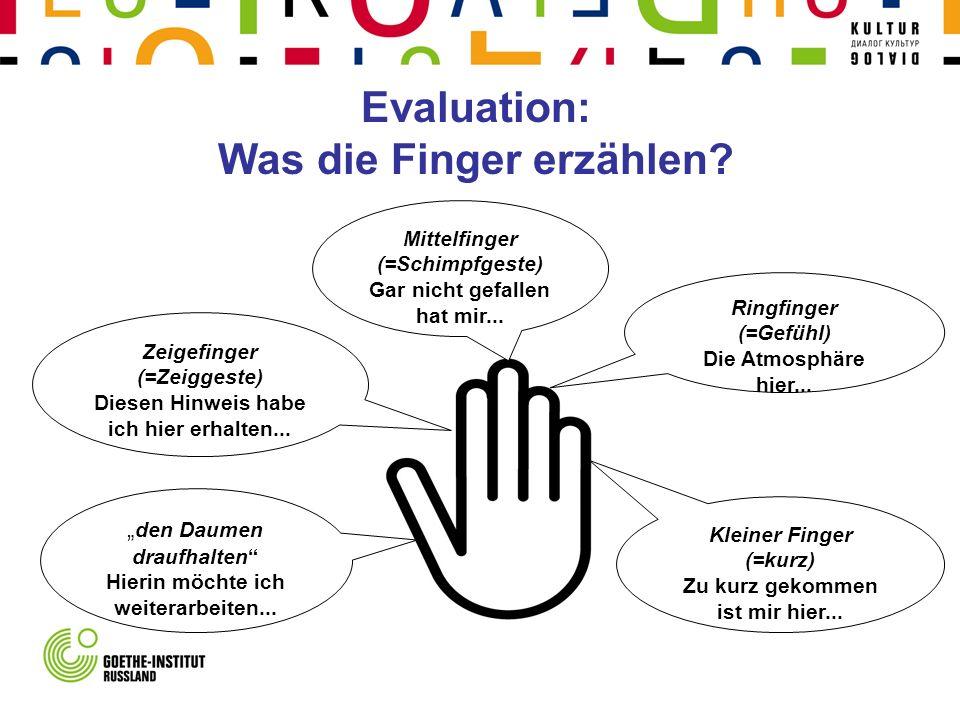 Evaluation: Was die Finger erzählen