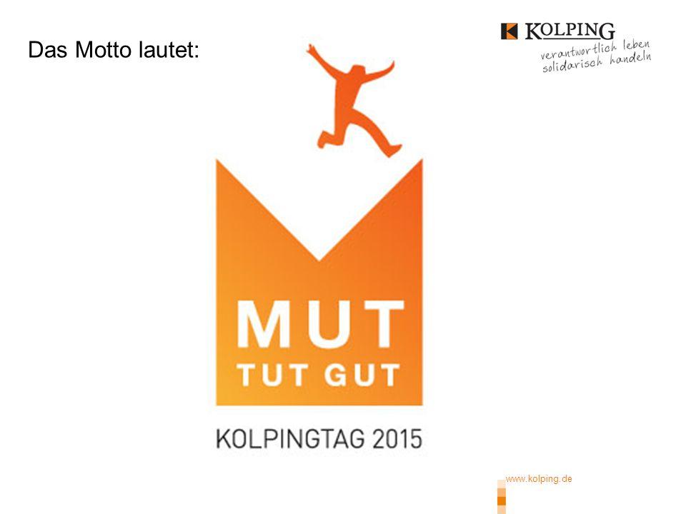 Das Motto lautet: www.kolping.de
