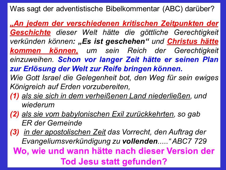 Was sagt der adventistische Bibelkommentar (ABC) darüber
