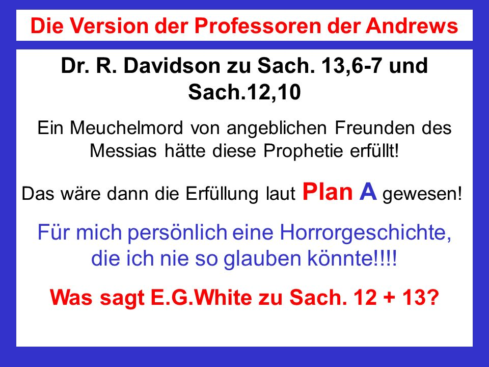 Die Version der Professoren der Andrews
