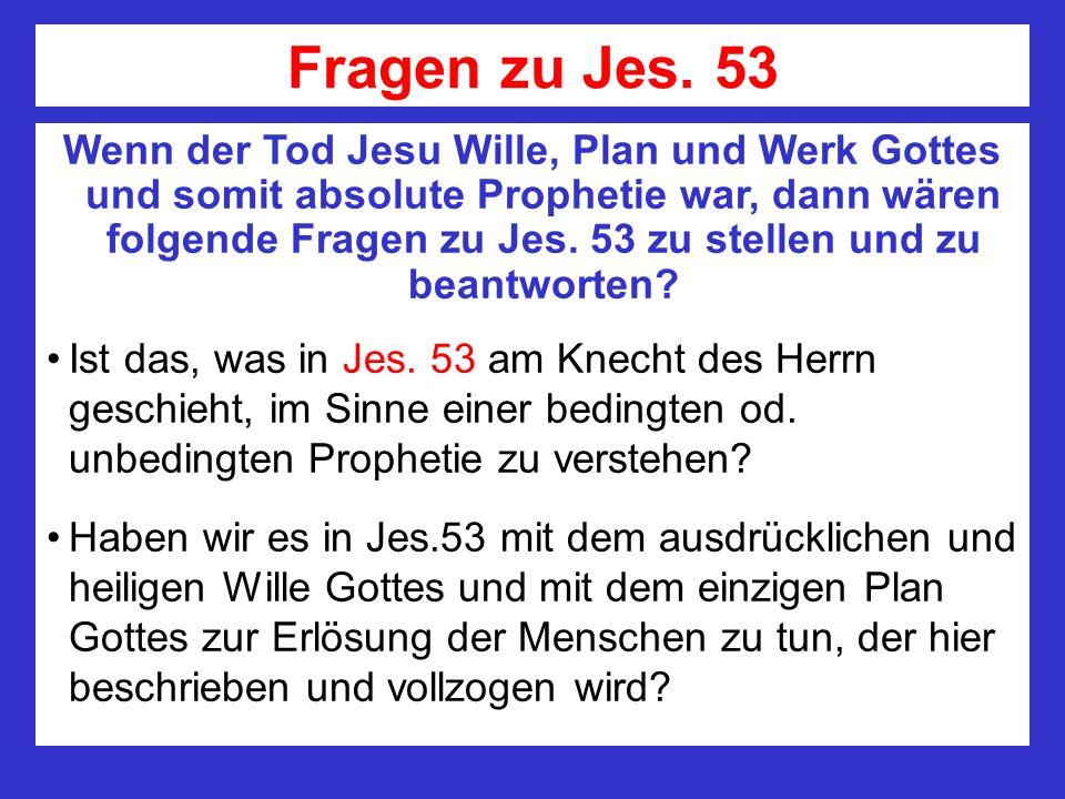 Fragen zu Jes. 53