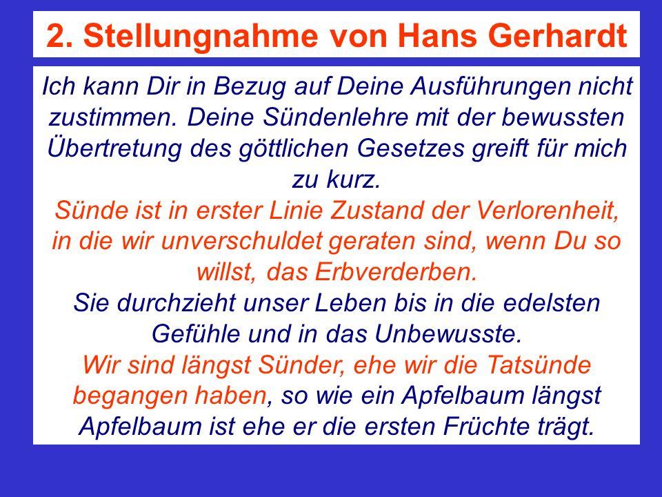 2. Stellungnahme von Hans Gerhardt