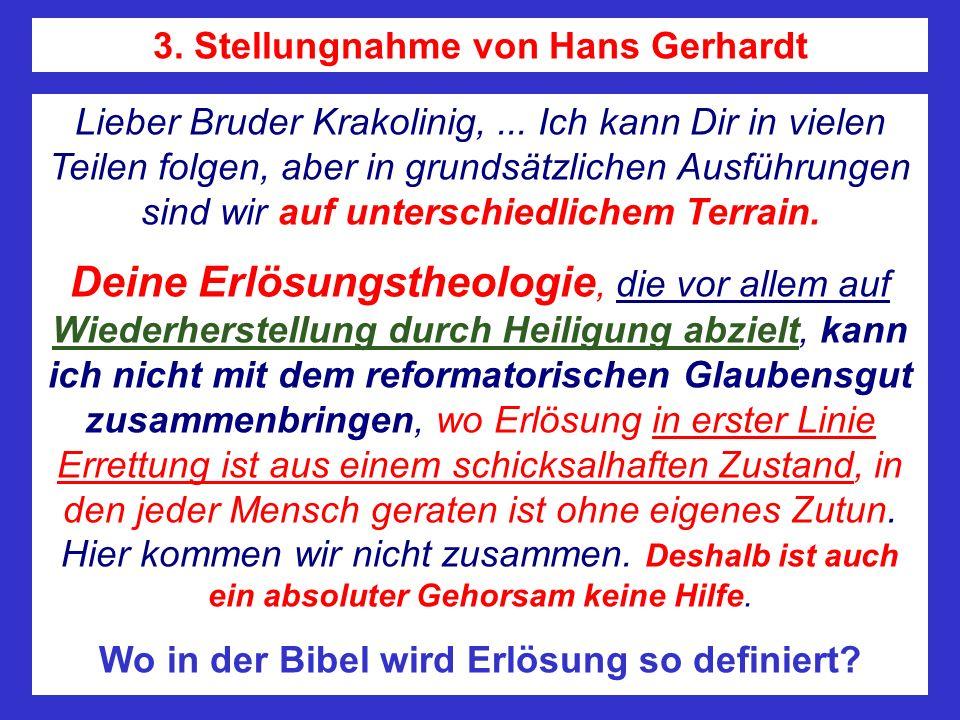 3. Stellungnahme von Hans Gerhardt