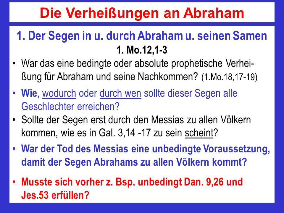 Die Verheißungen an Abraham