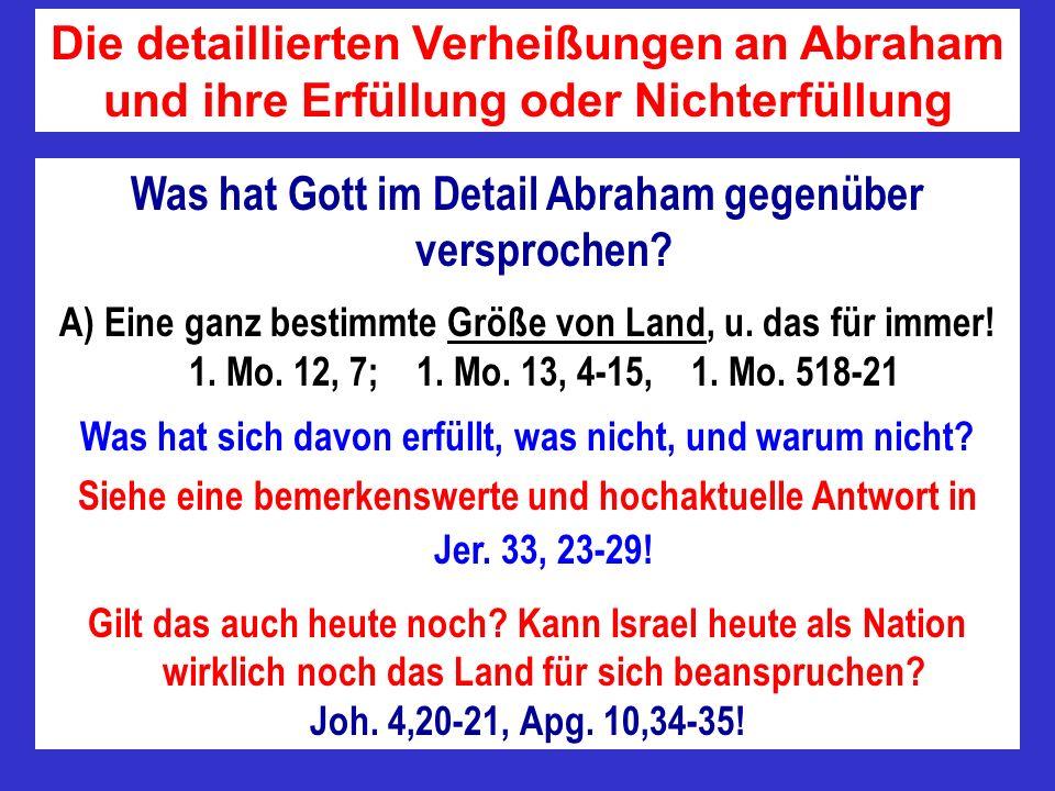Was hat Gott im Detail Abraham gegenüber versprochen