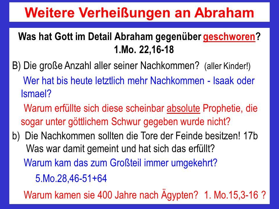 Weitere Verheißungen an Abraham