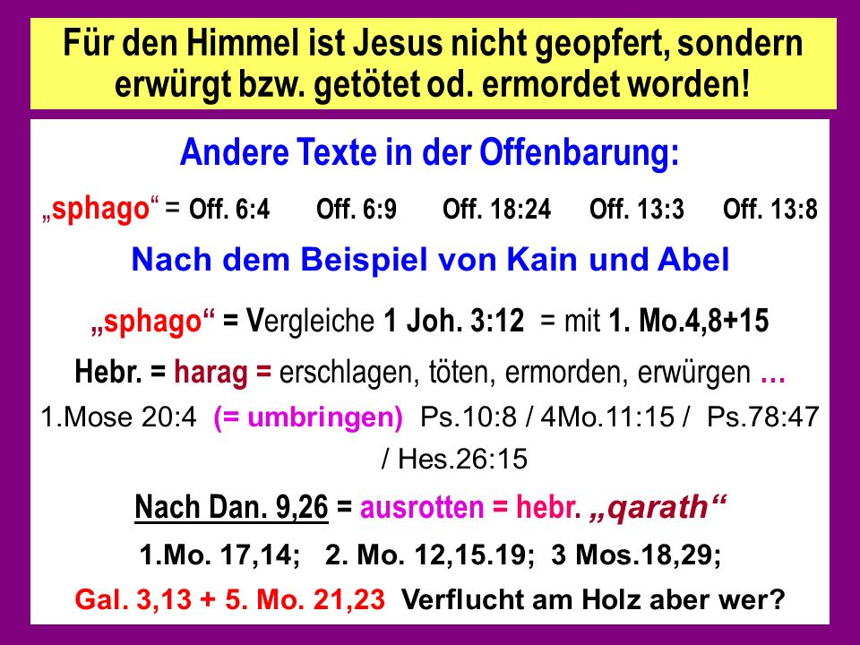 Andere Texte in der Offenbarung: