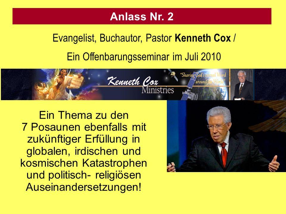 Evangelist, Buchautor, Pastor Kenneth Cox /