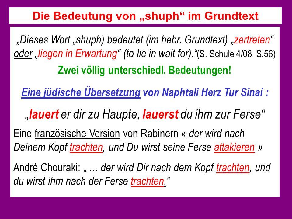 """Die Bedeutung von """"shuph im Grundtext"""