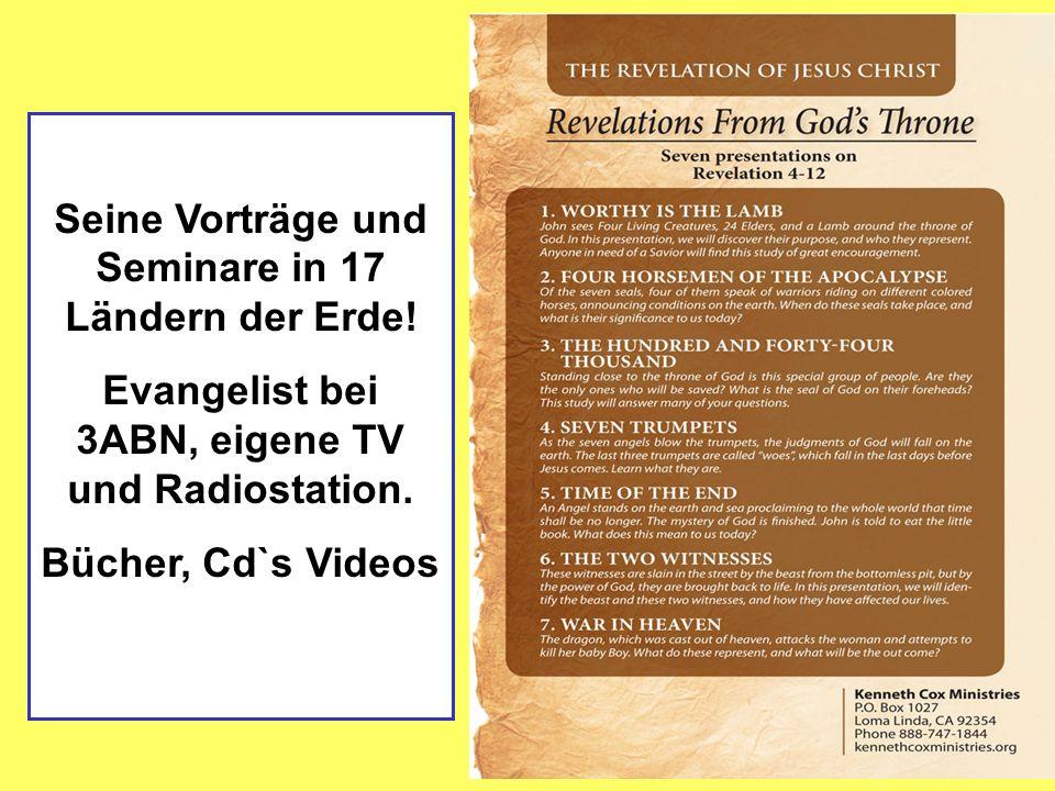 Seine Vorträge und Seminare in 17 Ländern der Erde!