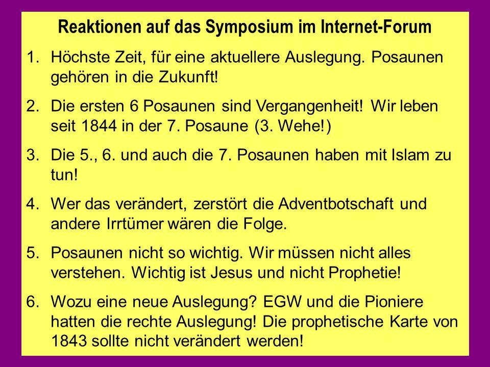 Reaktionen auf das Symposium im Internet-Forum