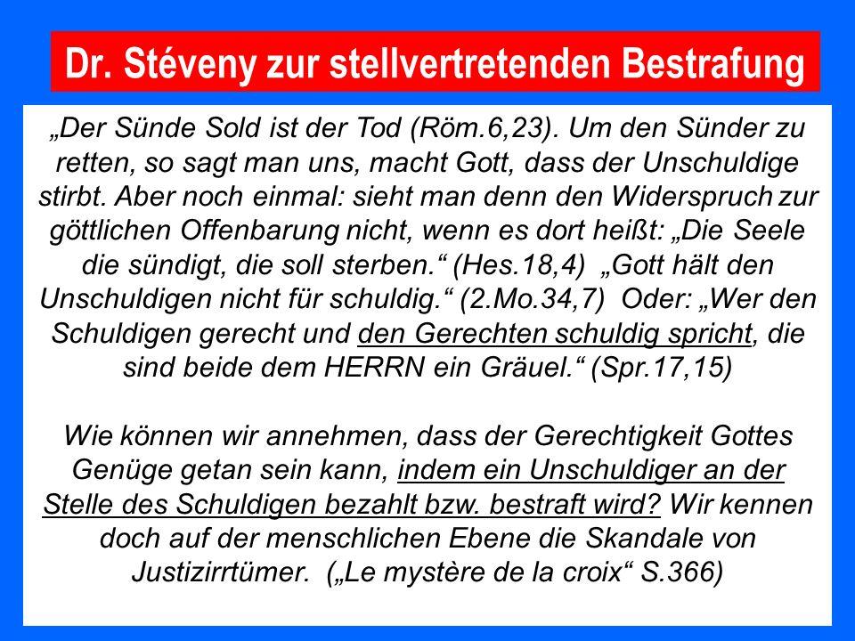 Dr. Stéveny zur stellvertretenden Bestrafung