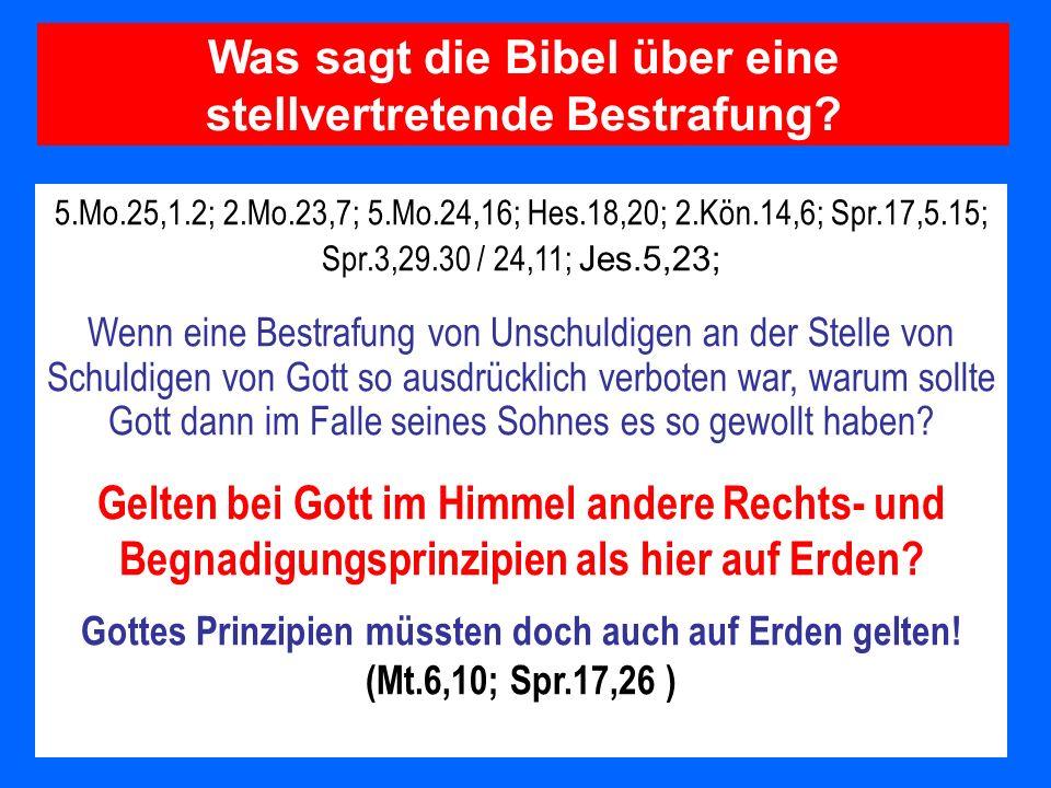 Was sagt die Bibel über eine stellvertretende Bestrafung