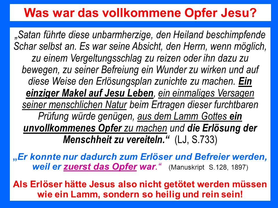 Was war das vollkommene Opfer Jesu