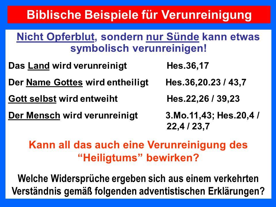Biblische Beispiele für Verunreinigung