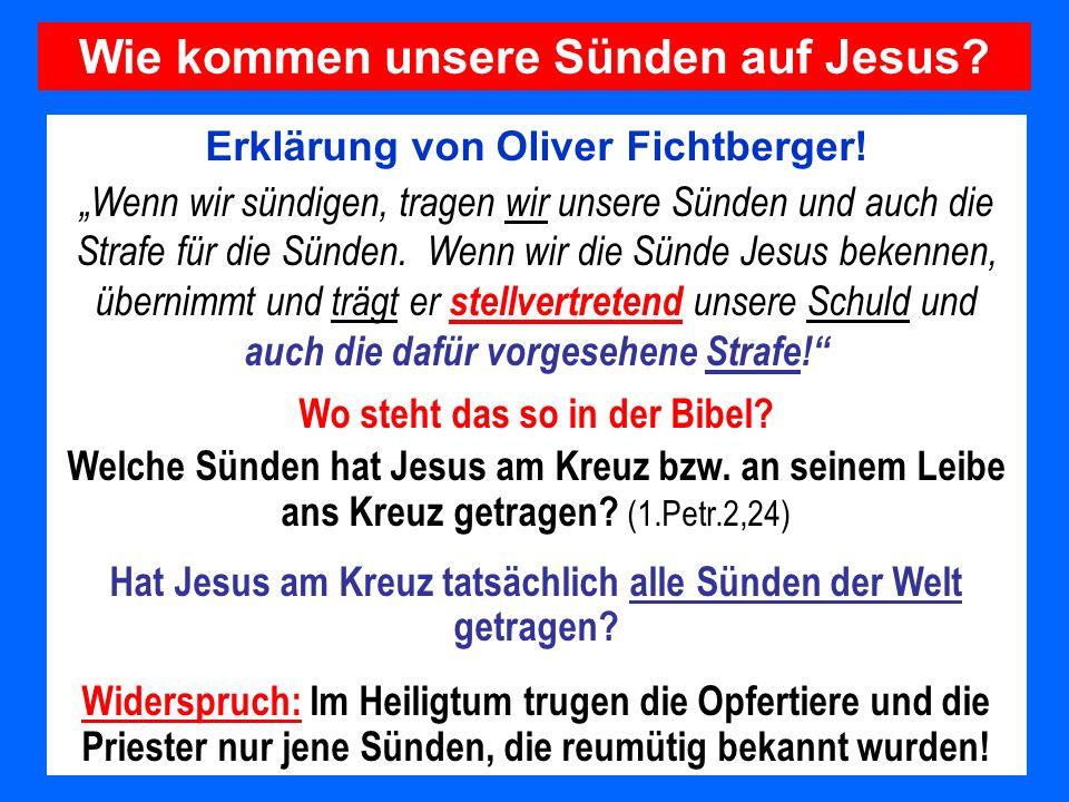 Wie kommen unsere Sünden auf Jesus
