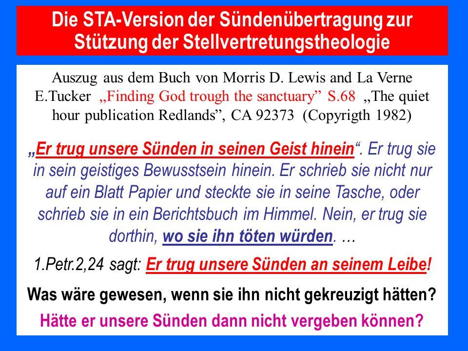 Die STA-Version der Sündenübertragung zur Stützung der Stellvertretungstheologie
