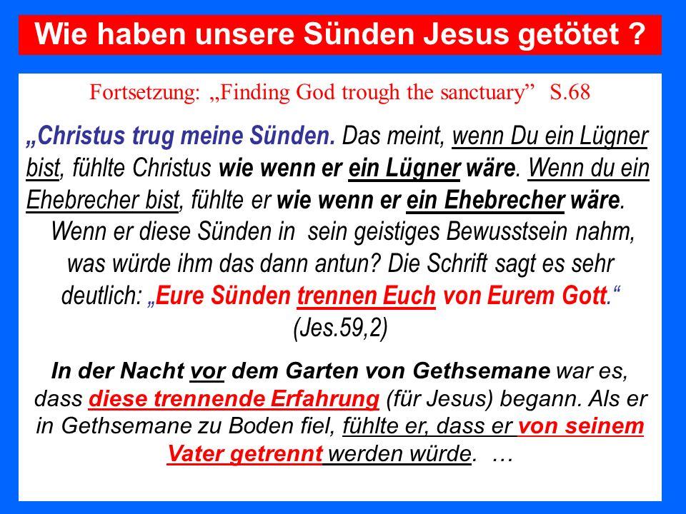 Wie haben unsere Sünden Jesus getötet