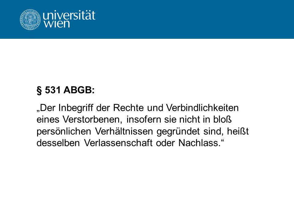 § 531 ABGB: