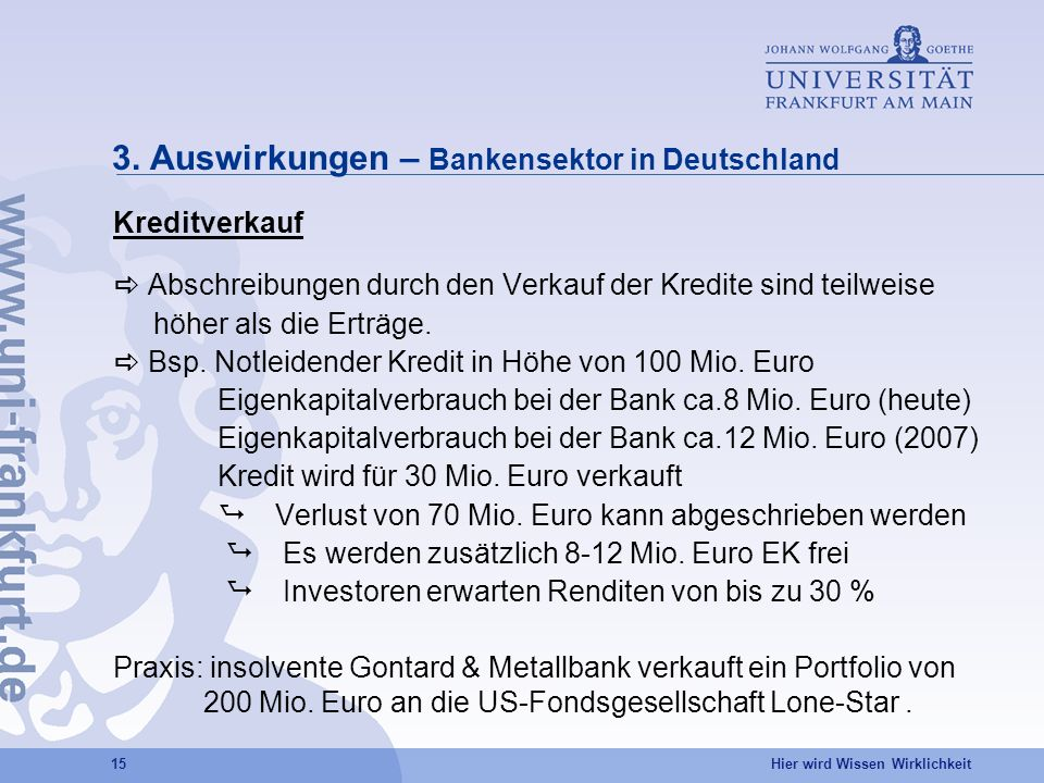 3. Auswirkungen – Bankensektor in Deutschland