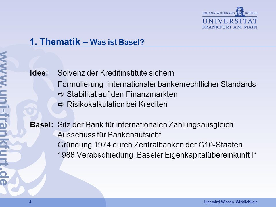 1. Thematik – Was ist Basel