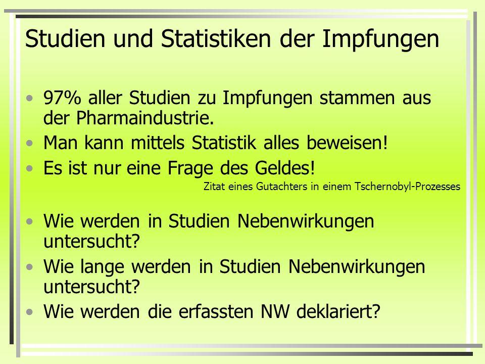 Studien und Statistiken der Impfungen