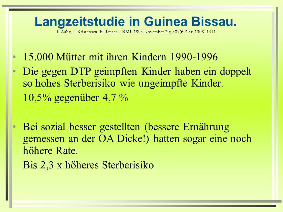 Langzeitstudie in Guinea Bissau. P. Aaby, I. Kristensen, H