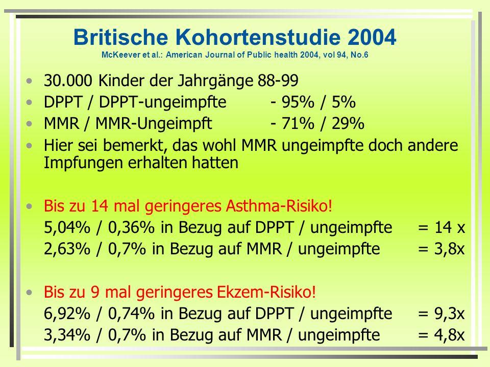 Britische Kohortenstudie 2004 McKeever et al