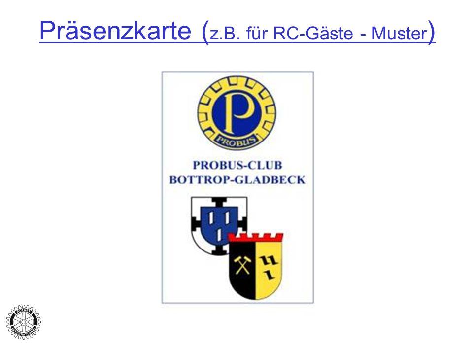 Präsenzkarte (z.B. für RC-Gäste - Muster)