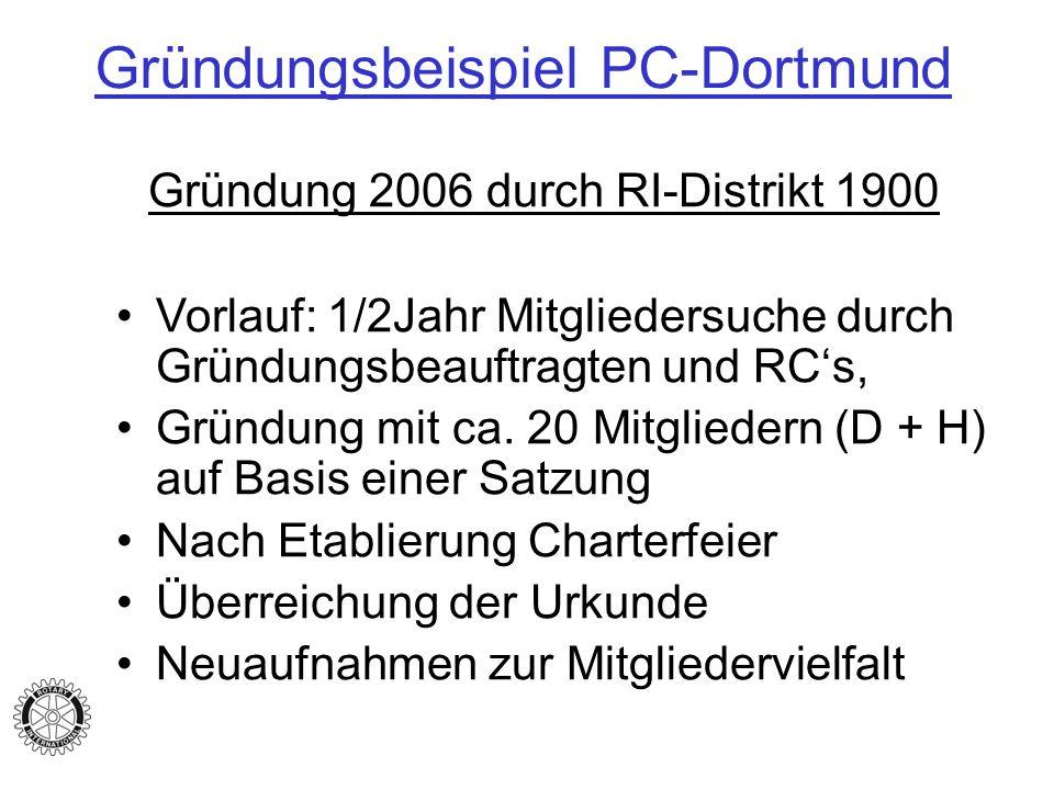 Gründungsbeispiel PC-Dortmund